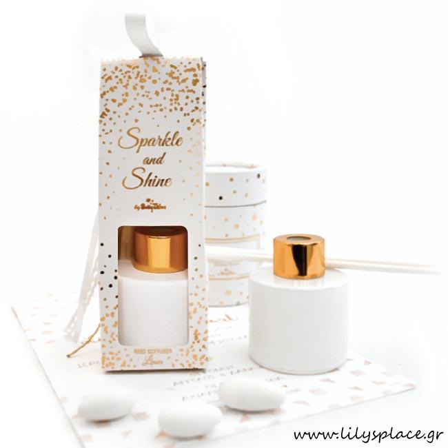 Αρωματικό χώρου λευκό με χρυσό