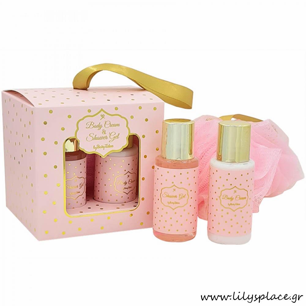Αφρόλουτρο και κρέμα σώματος ροζ χρυσό