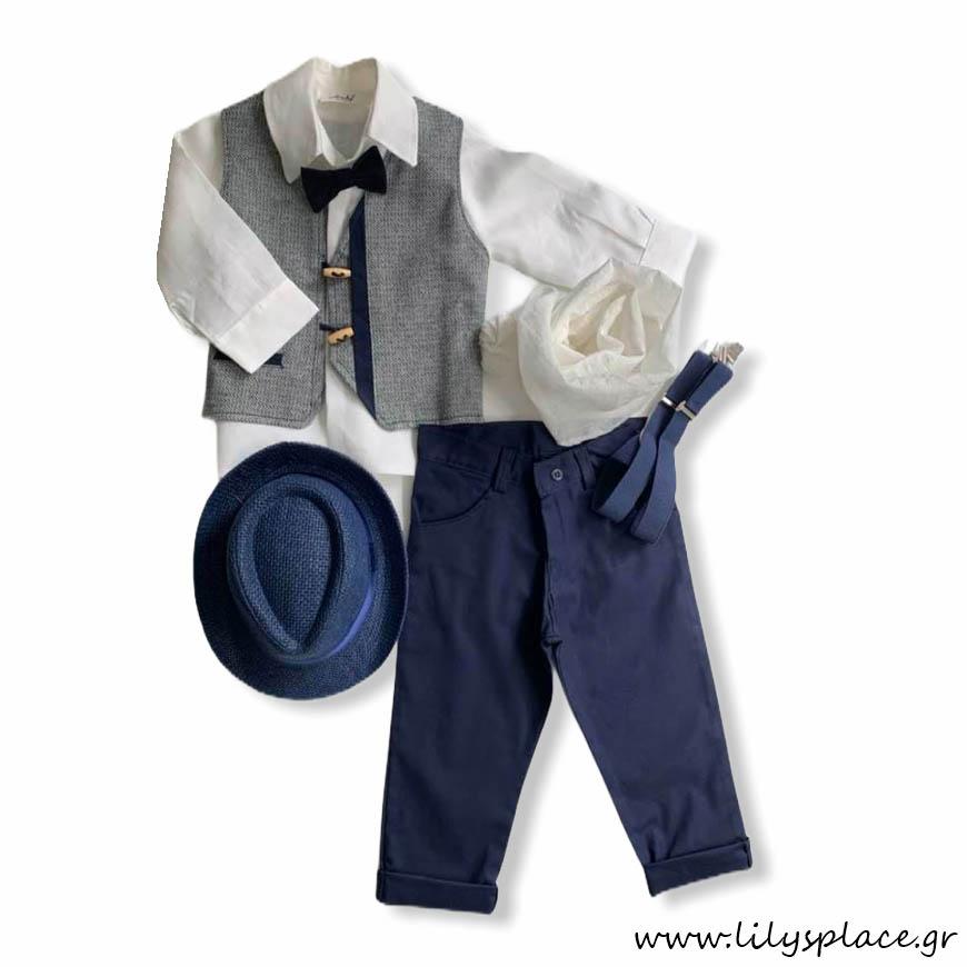 Βαπτιστικά ρούχα για αγόρι σετ
