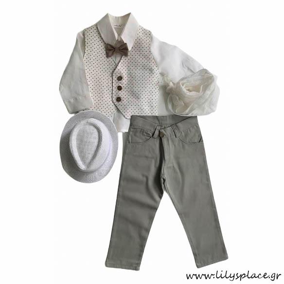 Βαπτιστικό ρούχο για αγόρι σετ
