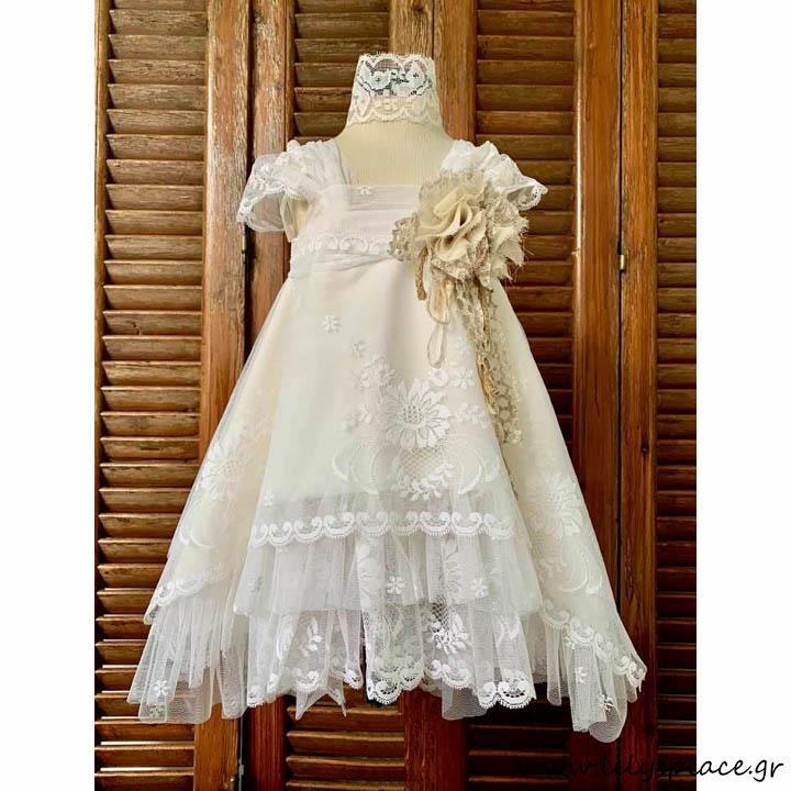 Βαπτιστικό φόρεμα σετ
