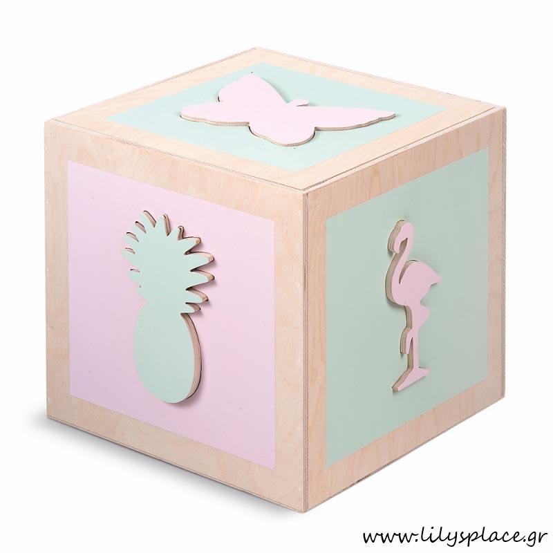 Κουτί βάπτισης παιχνιδόκουτο tropical