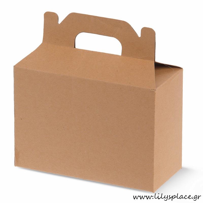 Κουτί χάρτινο βαλιτσάκι με χεράκι craft