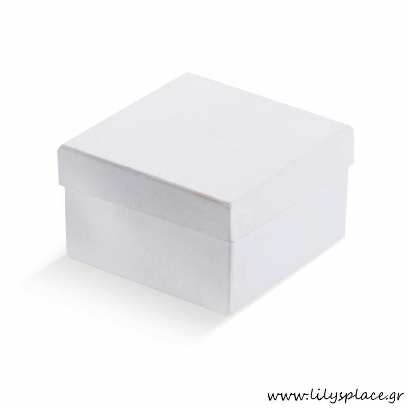 Κουτί χάρτινο τετράγωνο λευκό