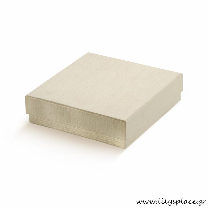 Κουτί χάρτινο τετράγωνο πλακέ εκρού