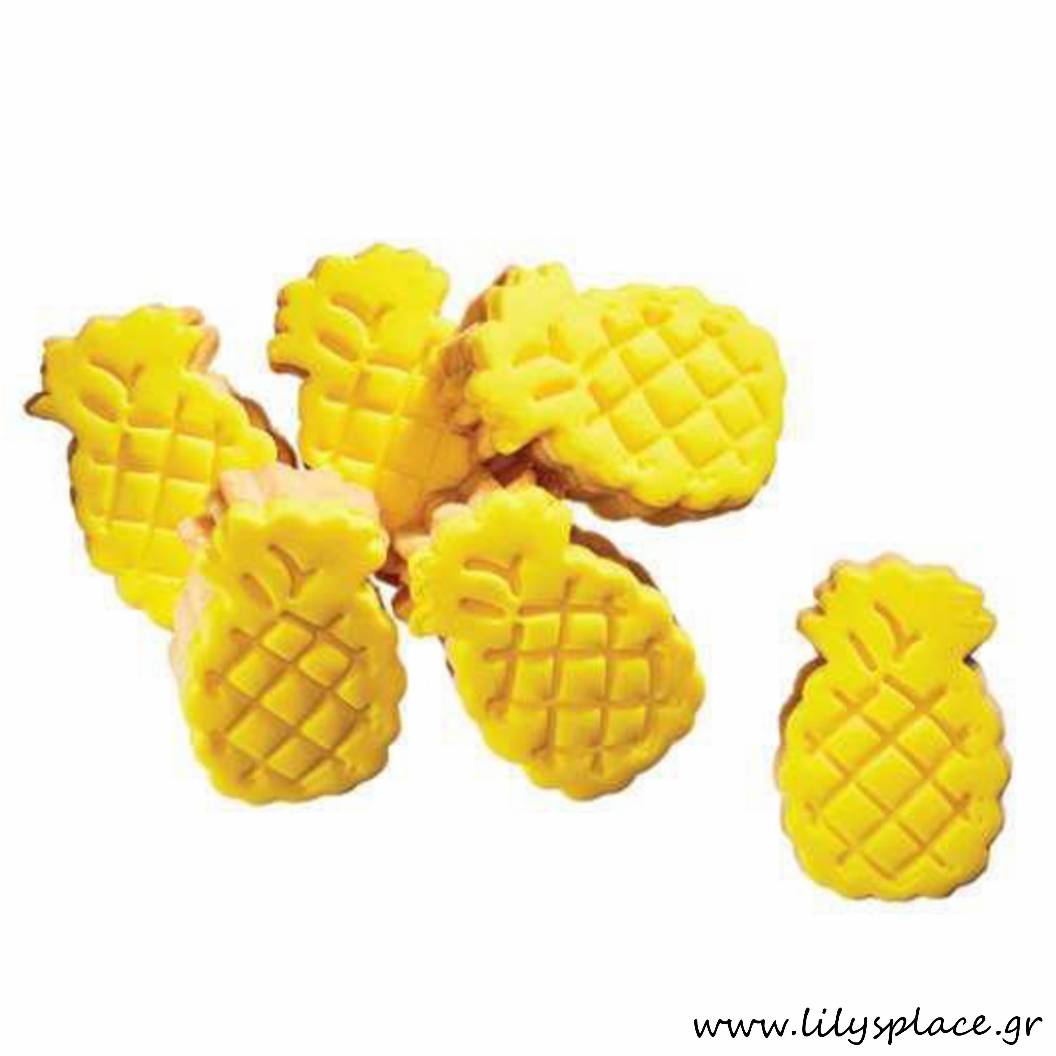 Μπισκότα βάπτισης μπουκίτσες κιλού ανανάς