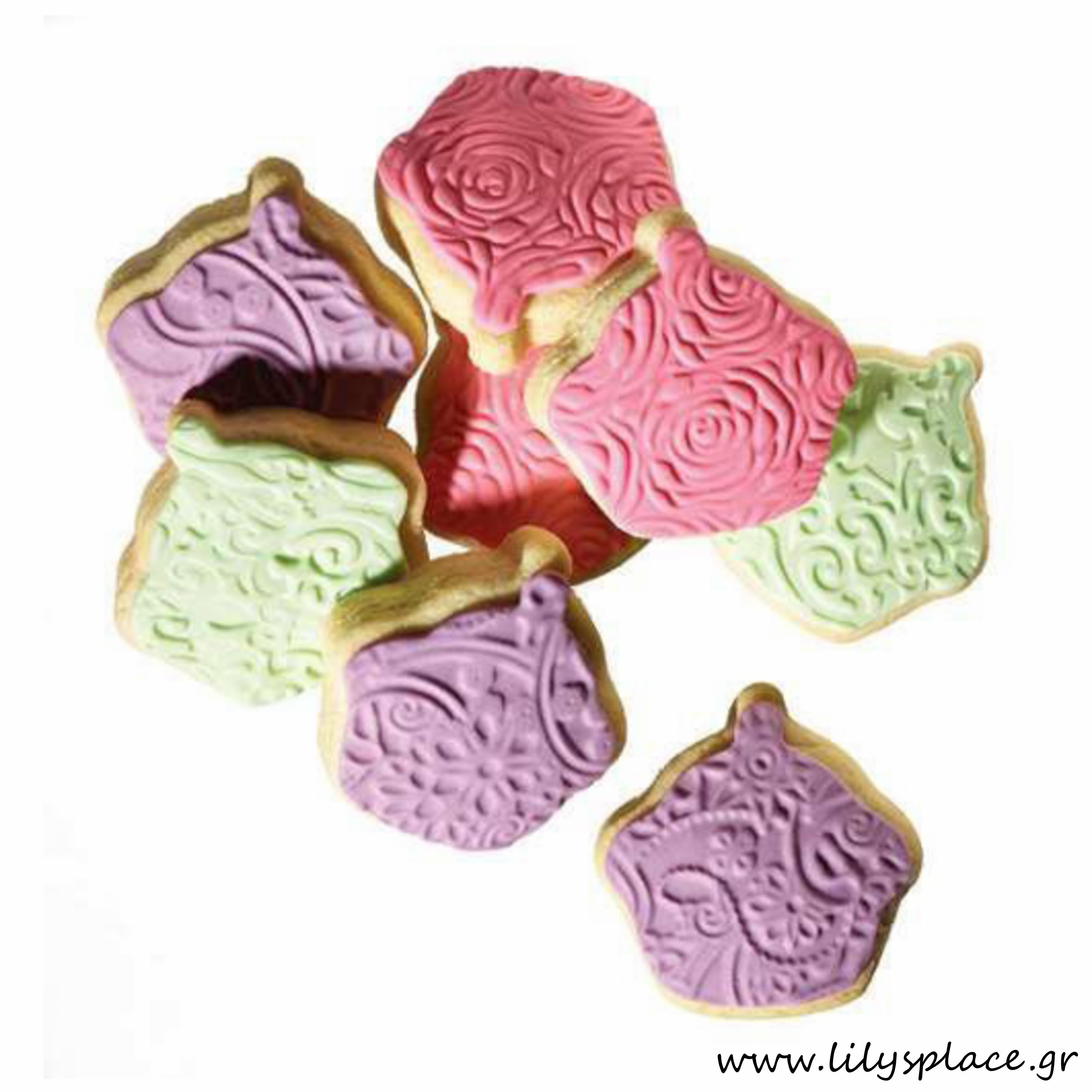 Μπισκότα βάπτισης μπουκίτσες κιλού cupcakes