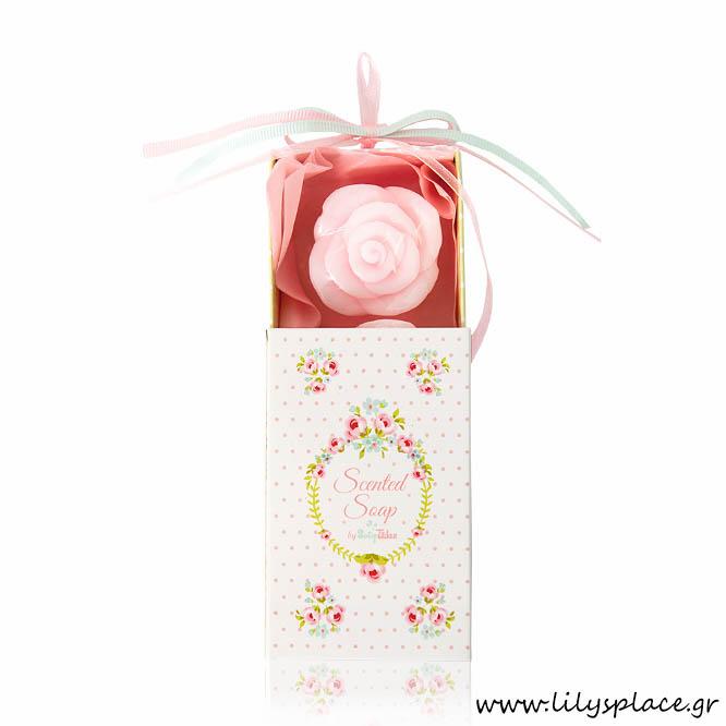 Σαπουνάκια λουλουδάκια μέσα σε κουτάκι