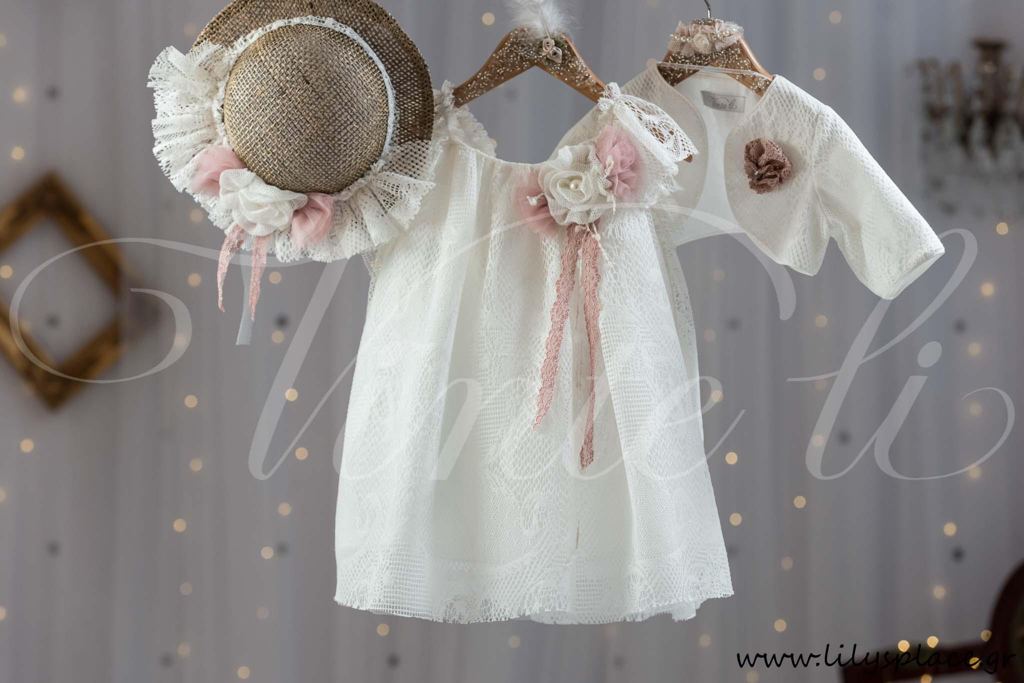 Φόρεμα βάπτισης με δαντέλα