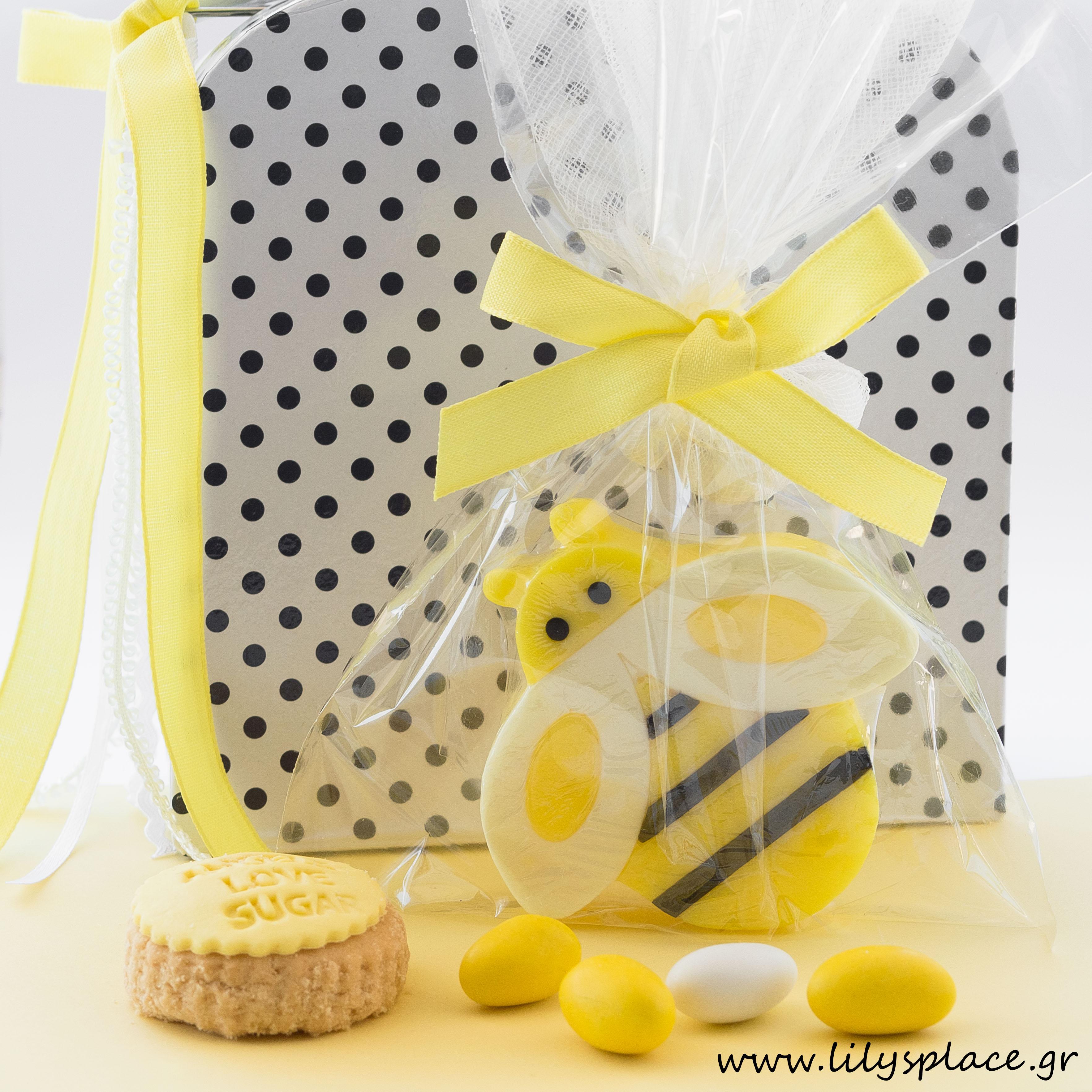Μπομπονιέρα βάπτισης σαπουνάκι μελισσούλα