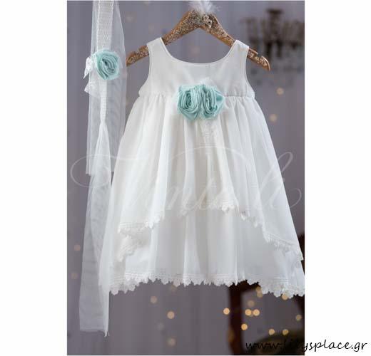 Φόρεμα βάπτισης ζορζέτα Vinte li