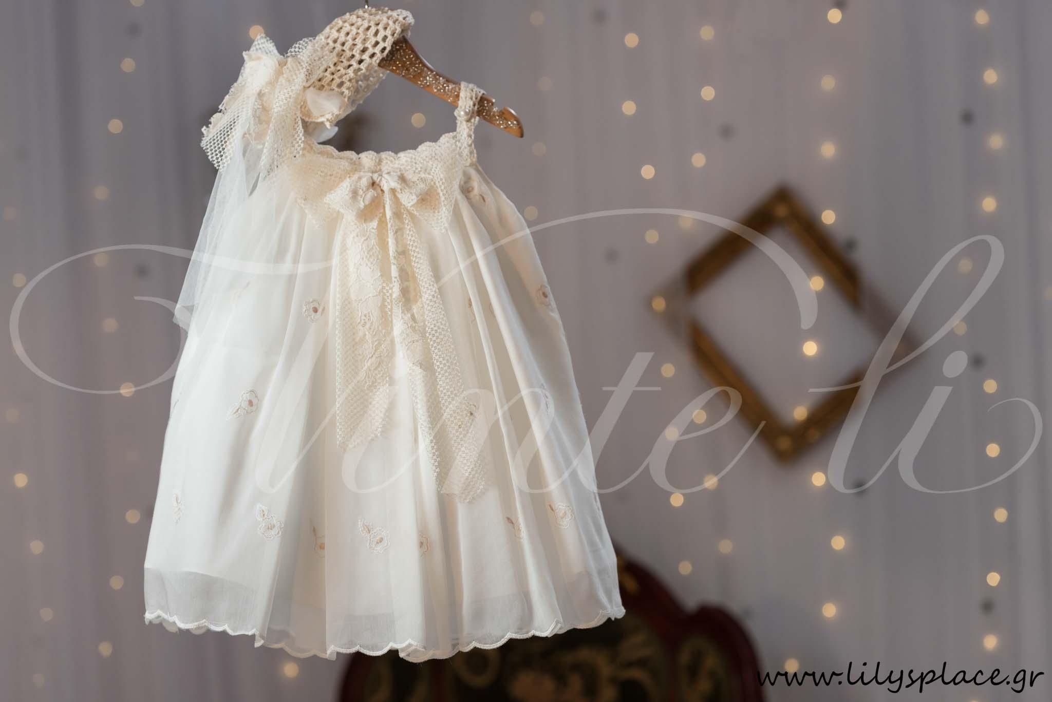 Φόρεμα βάπτισης οπαλίνα με ζακετάκι
