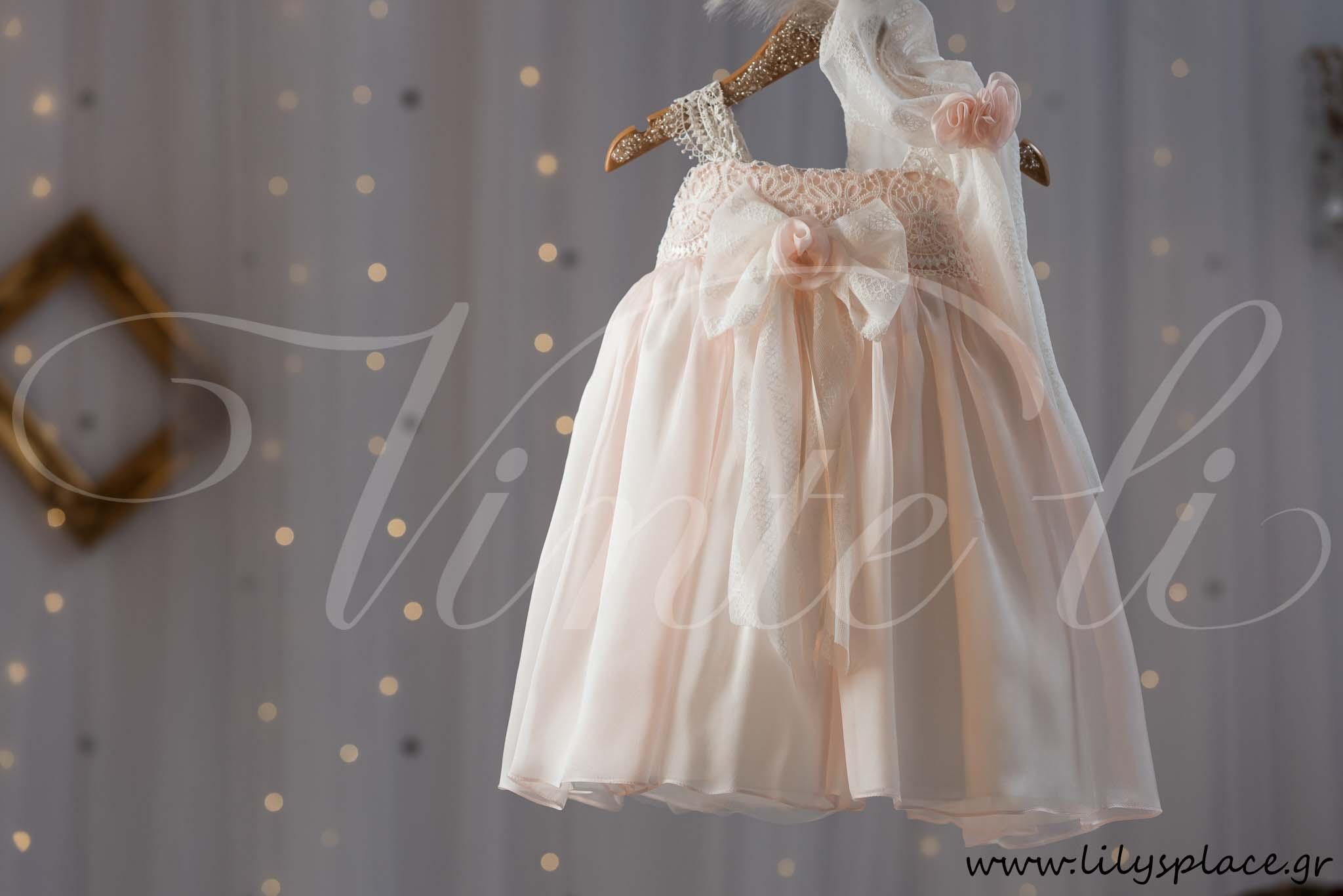 a2b4a97d9f18 Φόρεμα βάπτισης με δαντέλα Vinte li