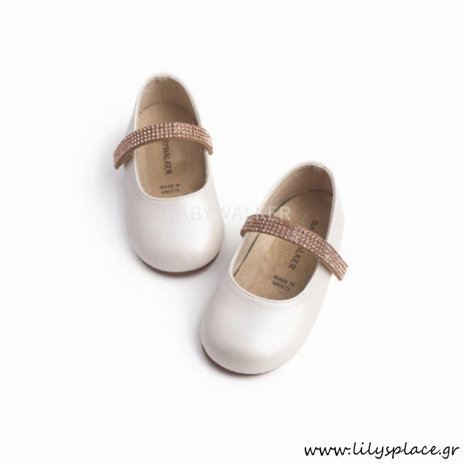 Παπουτσάκι βάπτισης για κορίτσι Babywalker