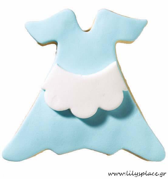 Μπισκότο βάπτισης φόρεμα της Αλίκης