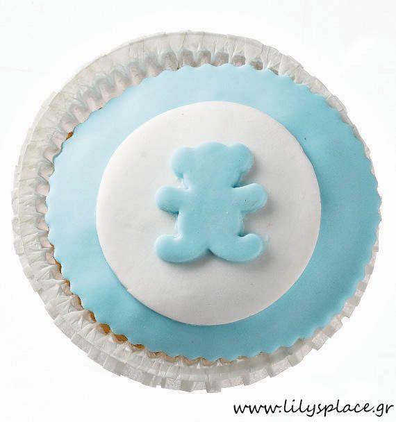 Cupcake με αρκουδάκι