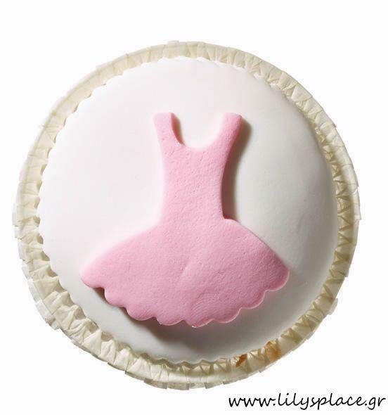Cupcake με φόρεμα μπαλαρίνας