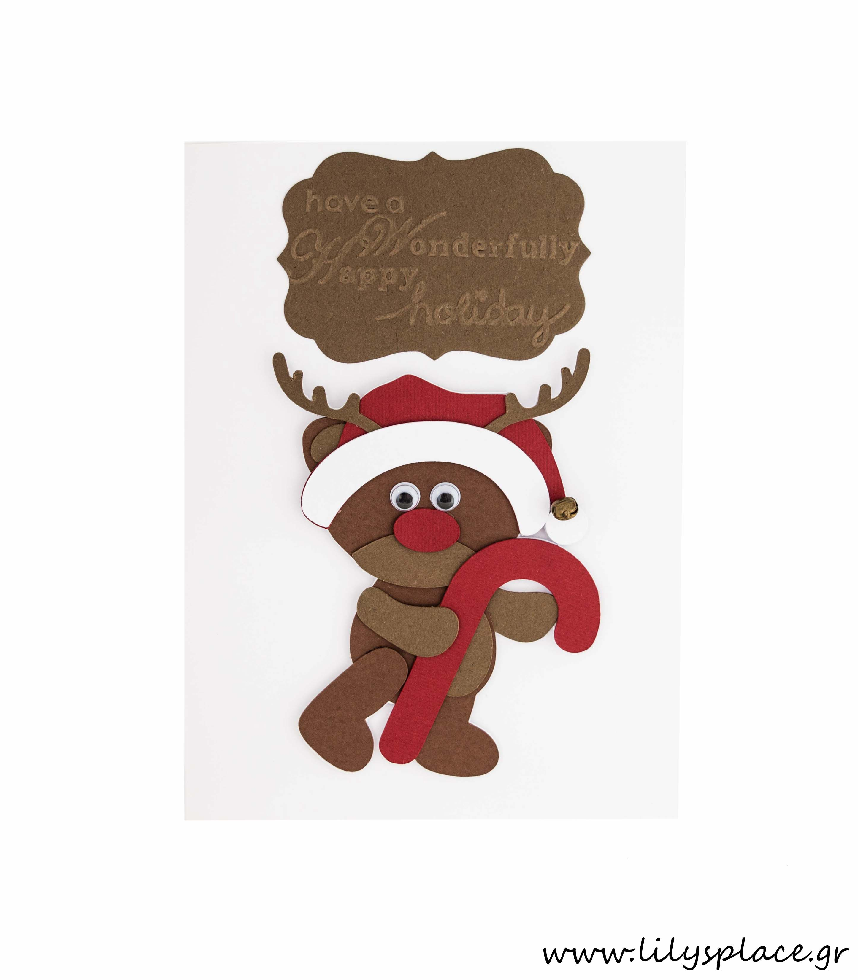 Κάρτα ευχών Χριστουγεννιάτικη με τάρανδο