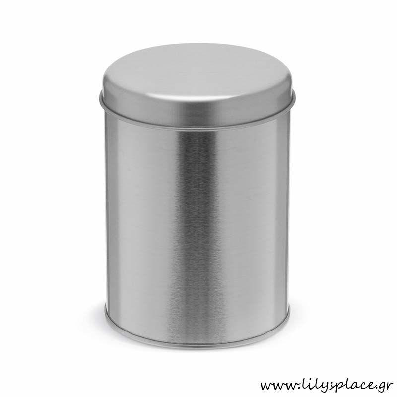Μεταλλικό κουτί στρογγυλό