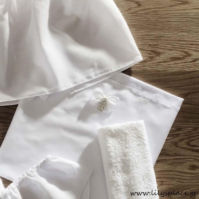 Λαδόπανα βάπτισης λευκά