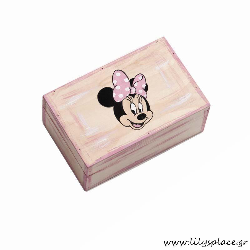 Κουτί μαρτυρικών βάπτισης με θέμα Minnie νερά'ι'δα