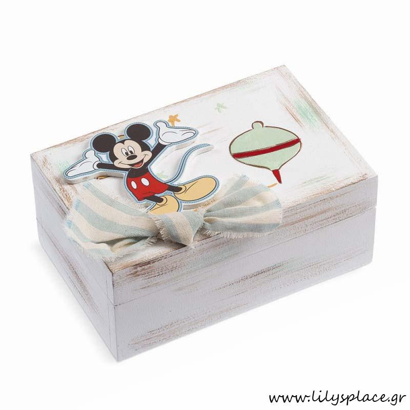 Κουτί μαρτυρικών βάπτισης με θέμα τον Mickey