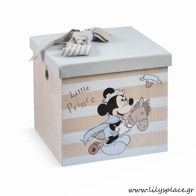 Κουτί βάπτισης με θέμα τον Μickey prince
