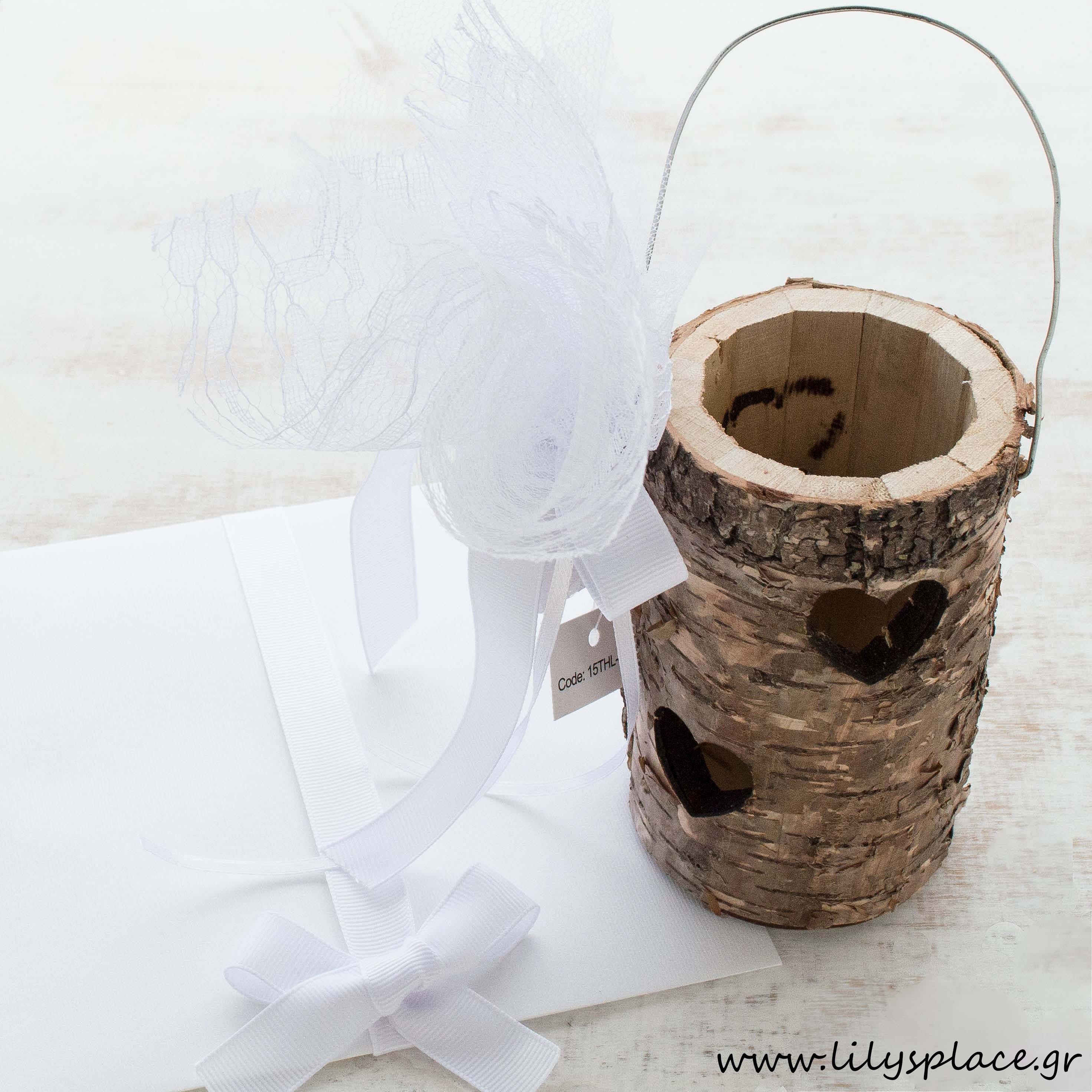 Μπομπονιέρα γάμου ξύλινη θήκη