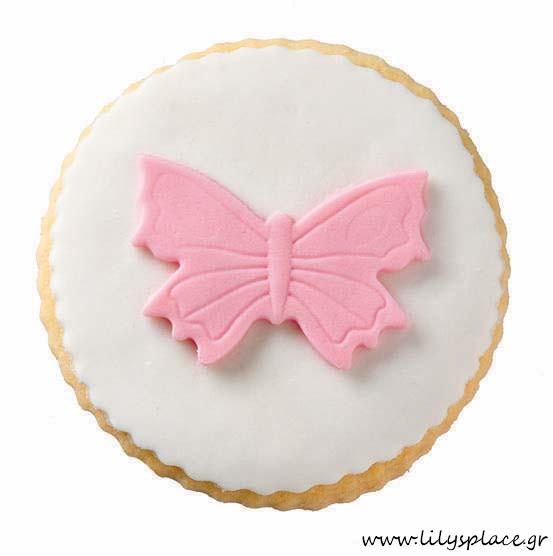 Μπισκότο βάπτισης πεταλούδα