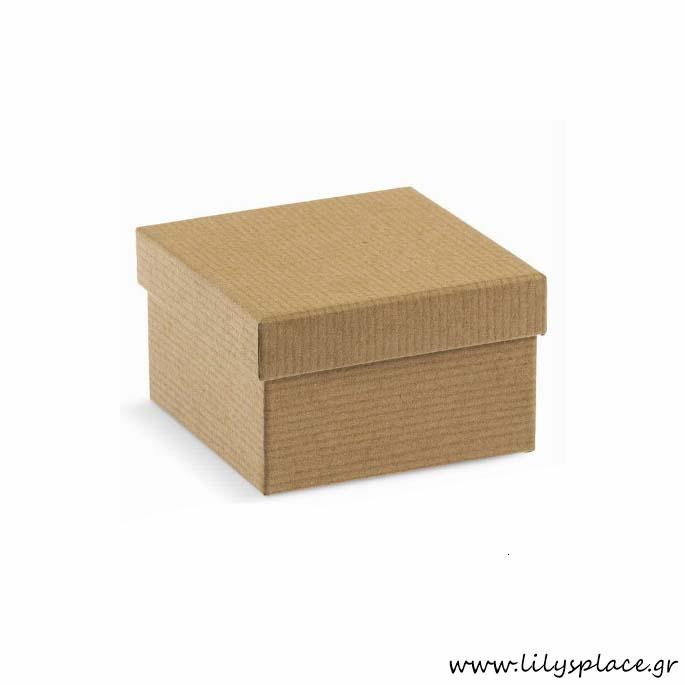 Κουτί κραφτ τετράγωνο οικολογικό