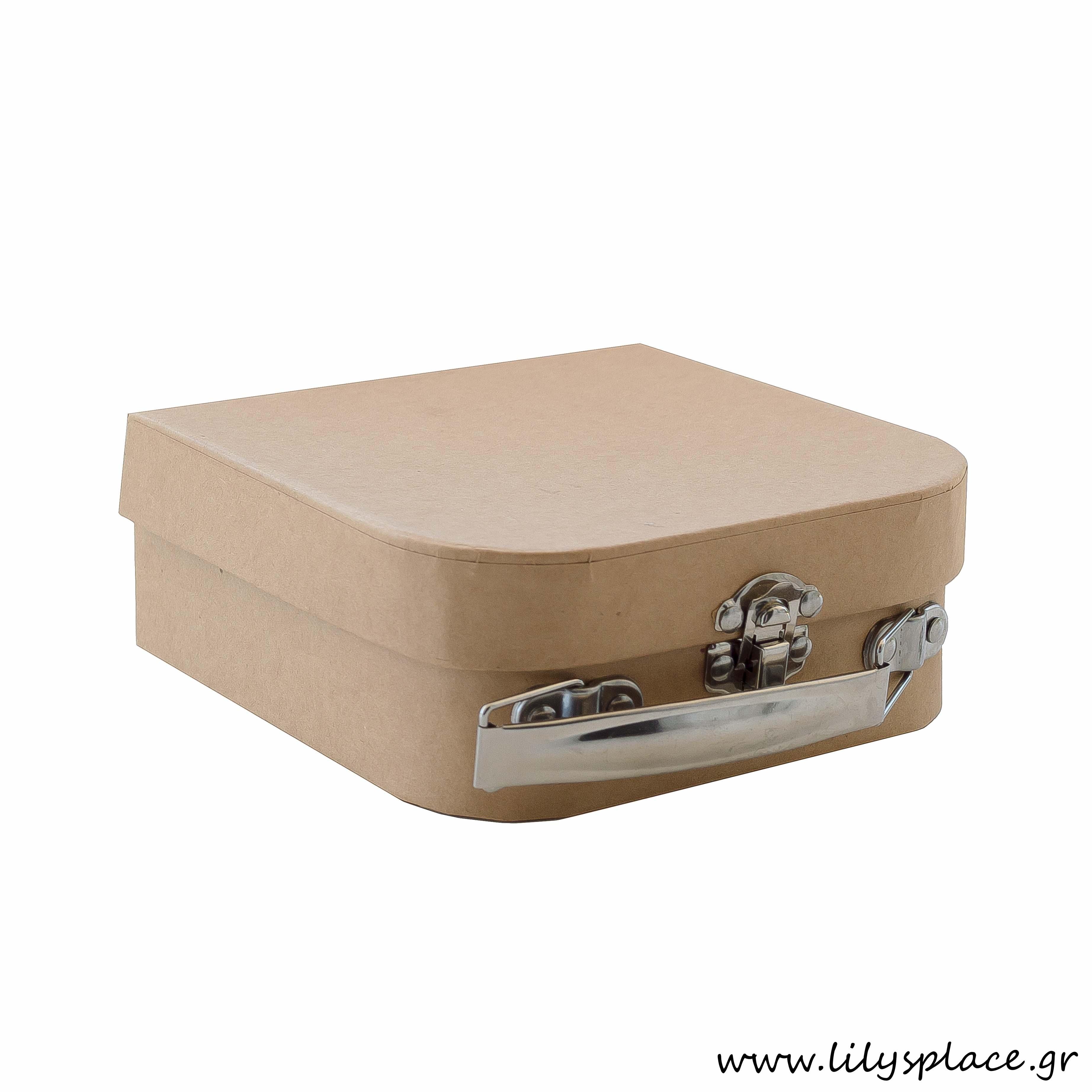 Κουτί βαλιτσάκι χάρτινο kraft