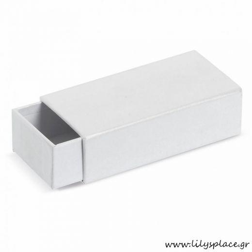 Κουτί χάρτινο συρόμενο σπιρτόκουτο λευκό