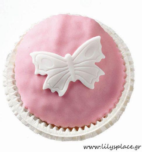 Cupcake με πεταλούδα