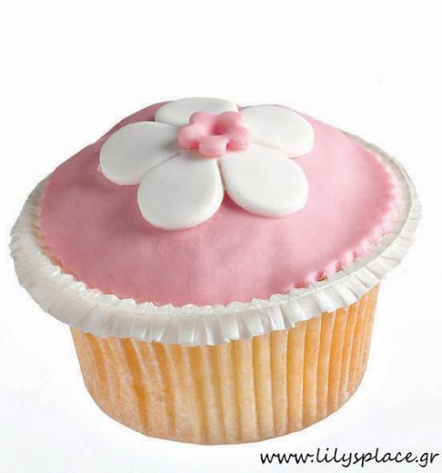 Cupcake με λουλούδι