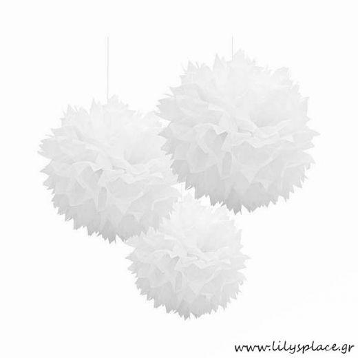 Fluffy διακοσμητικό λευκό