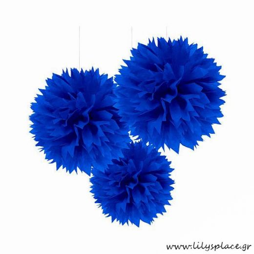 Fluffy διακοσμητικό μπλε ρουά