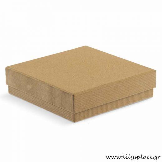 Κουτί κραφτ πλακέ οικολογικό