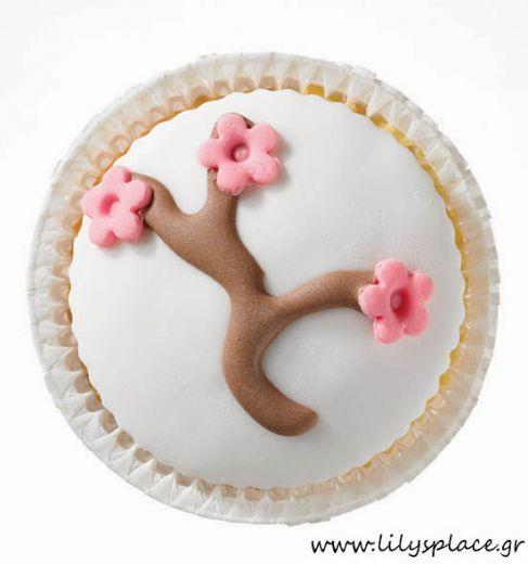 Cupcake λευκό με αμυγδαλιά
