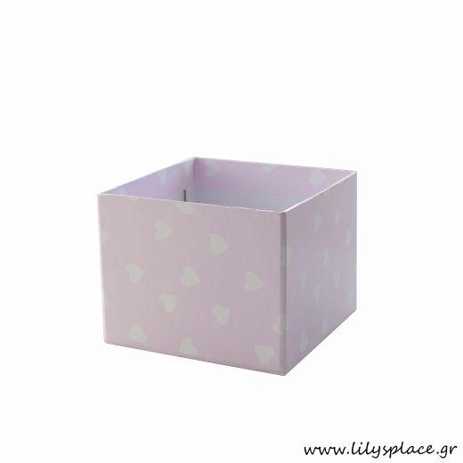 Κουτί χάρτινο για στολισμό τραπεζιού με καρδούλες