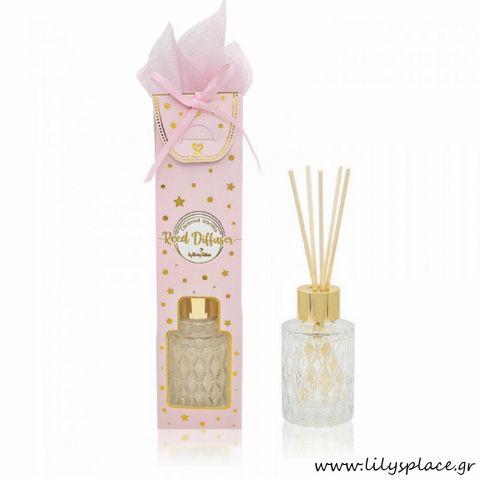 Μπομπονιέρα αρωματικό χώρου Coconut Vanilla ροζ