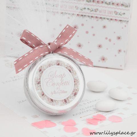 Σαπουνάκια confetti παχύφυτα κορίτσι