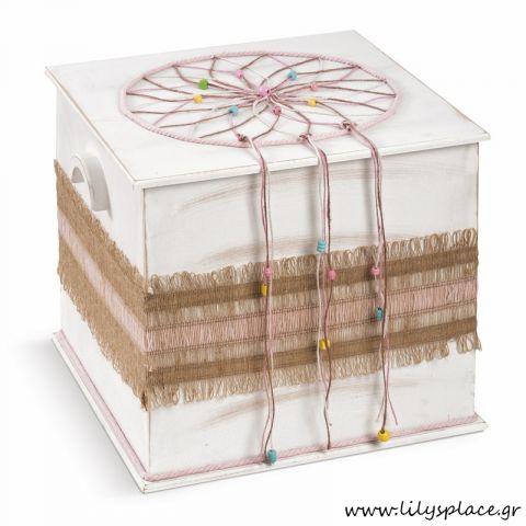 Κουτί βάπτισης με θέμα ονειροπαγίδα
