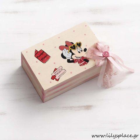 Κουτί μαρτυρικών βάπτισης με θέμα την Minnie