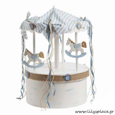 Kουτί βάπτισης με θέμα carousel