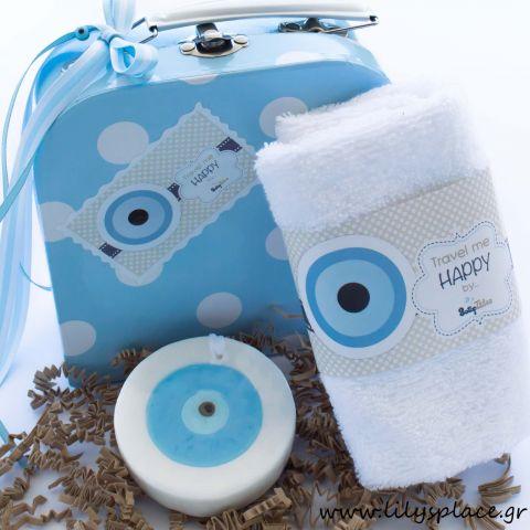 Σετ βαλιτσάκι με σαπουνάκι ματάκι και πετσέτα